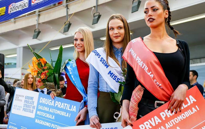 MISS Jelena Djordjevic i pratilje Jovana Nikolic i Katarina Lazarevic