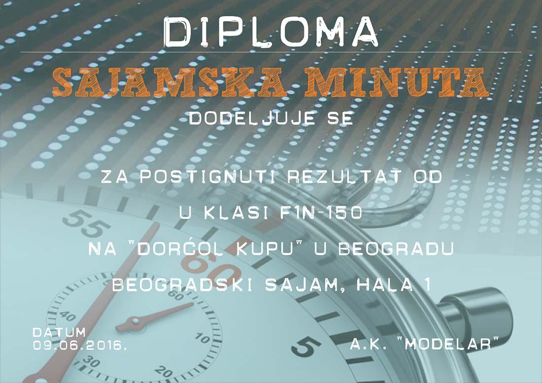 Diploma Sajamska minuta