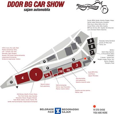 Raspored izlagača po halama BG CAR SHOW 2018.