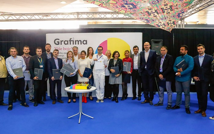 At the Anniversary 40. International Fair of Graphic, Paper and Creative Industry Grafima, the most successful exhibitors were awarded the traditional recognitions and awards