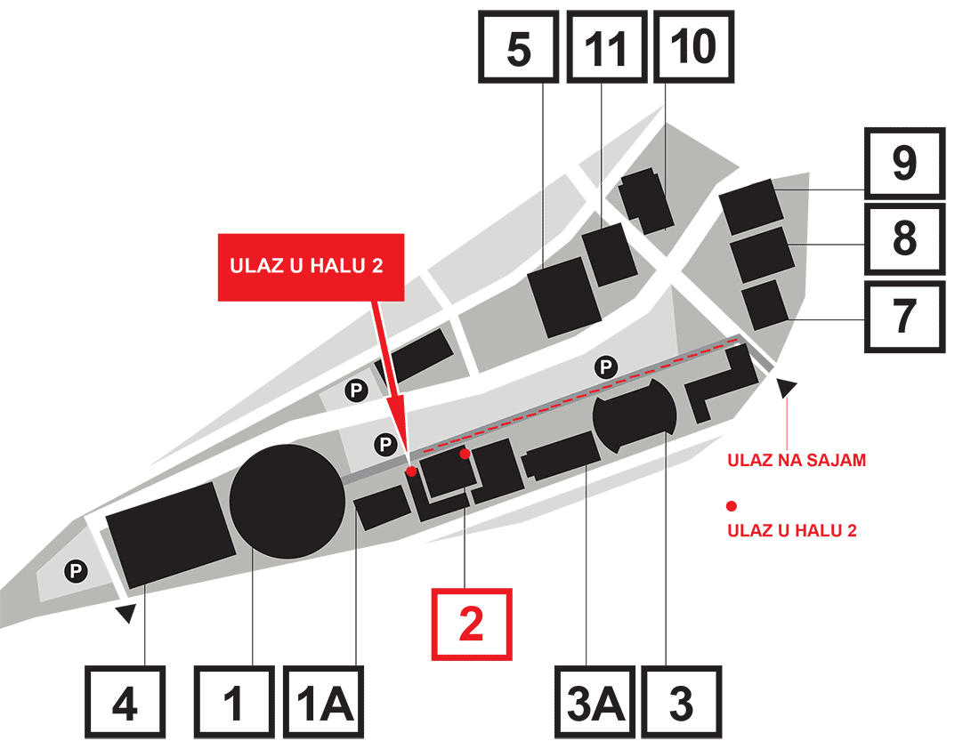 Мапа Београдског сајма