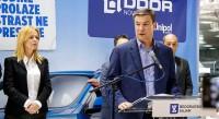 Goran Knezevic, ministar privrede, otvori Salon automobila