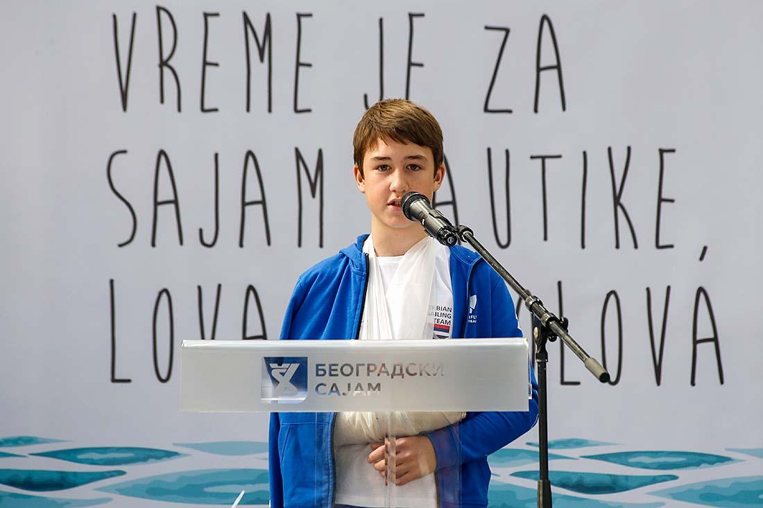 Стефан Јуил, млади репрезентативац Србије у једрењу, освајач златне медаље на Европском првенству