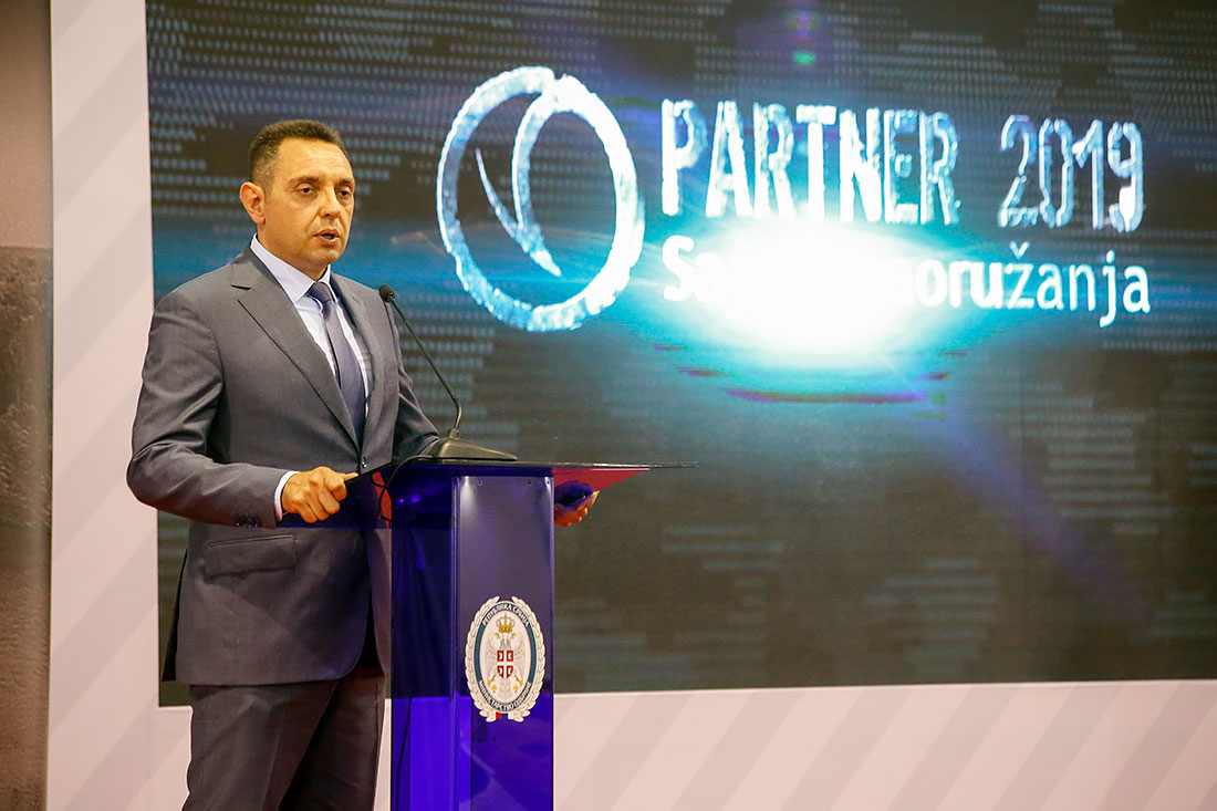 Minister of Defense Mr. Aleksandar Vulin officially opened Partner 2019