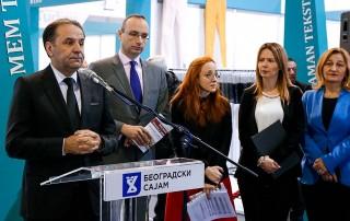 Rasim Ljajić, ministar trgovine, turizma i telekomunikacija u Vladi Srbije, otvorio je 6. Sajam tekstila