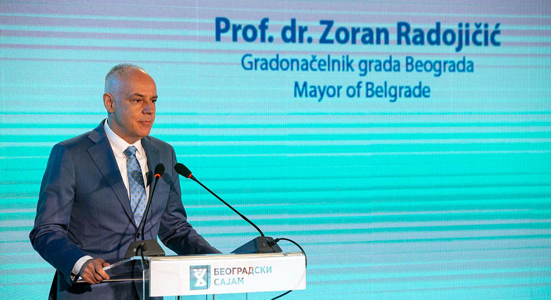 Gradonačelnik Beograda prof. dr Zoran Radojičić