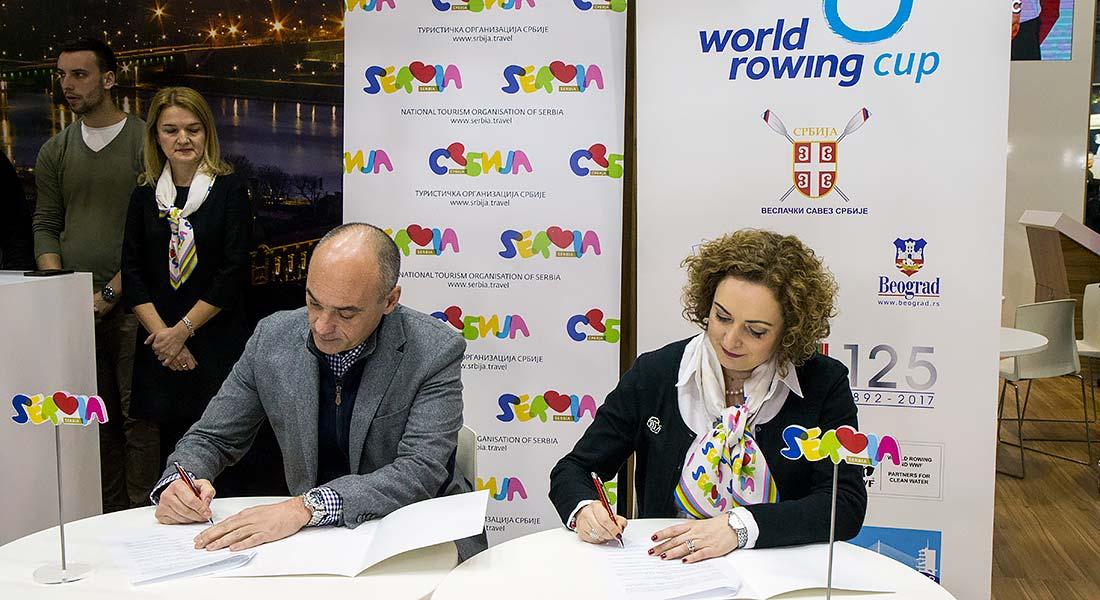 Potpisivanje Protokola o saradnji između Turističke organizacije Srbije i Veslačkog saveza Srbije