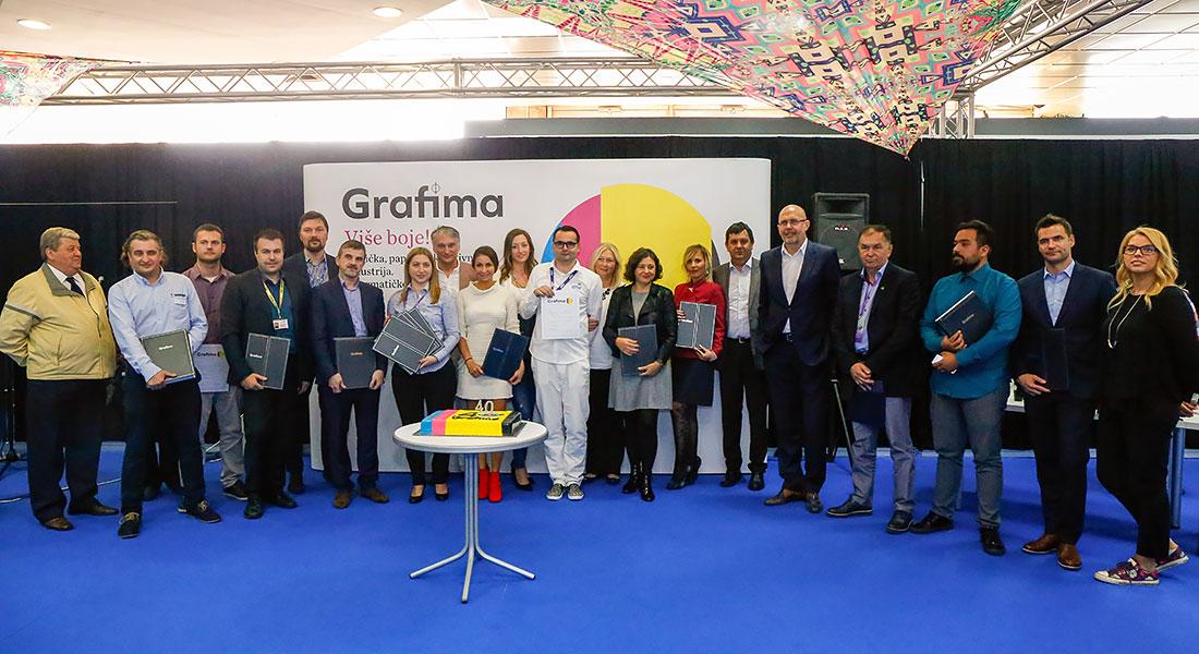 Na jubilarnom, 40. Međunarodnom sajmu grafičke, papirne i kreativne industrije Grafima najuspešnijim izlagačima dodeljena su tradicionalna priznanja i nagrade