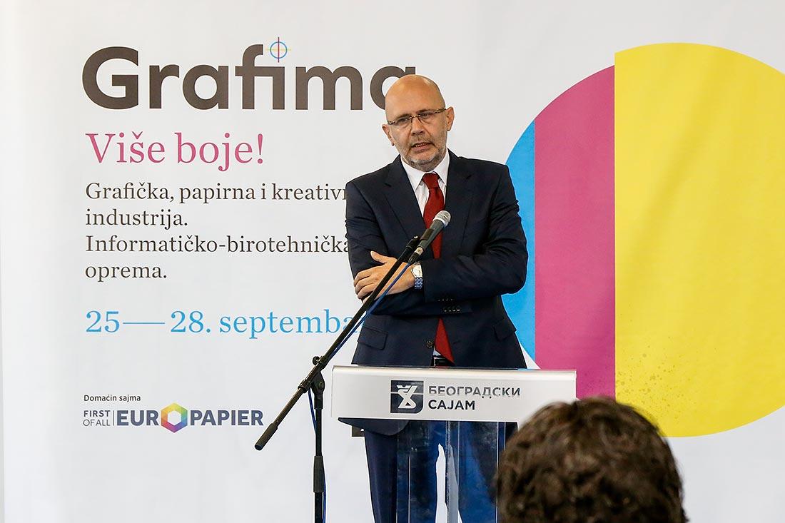 Dragutin Ilić, direktor kompanije Europaier Dunav, domaćina Grafime 2019.