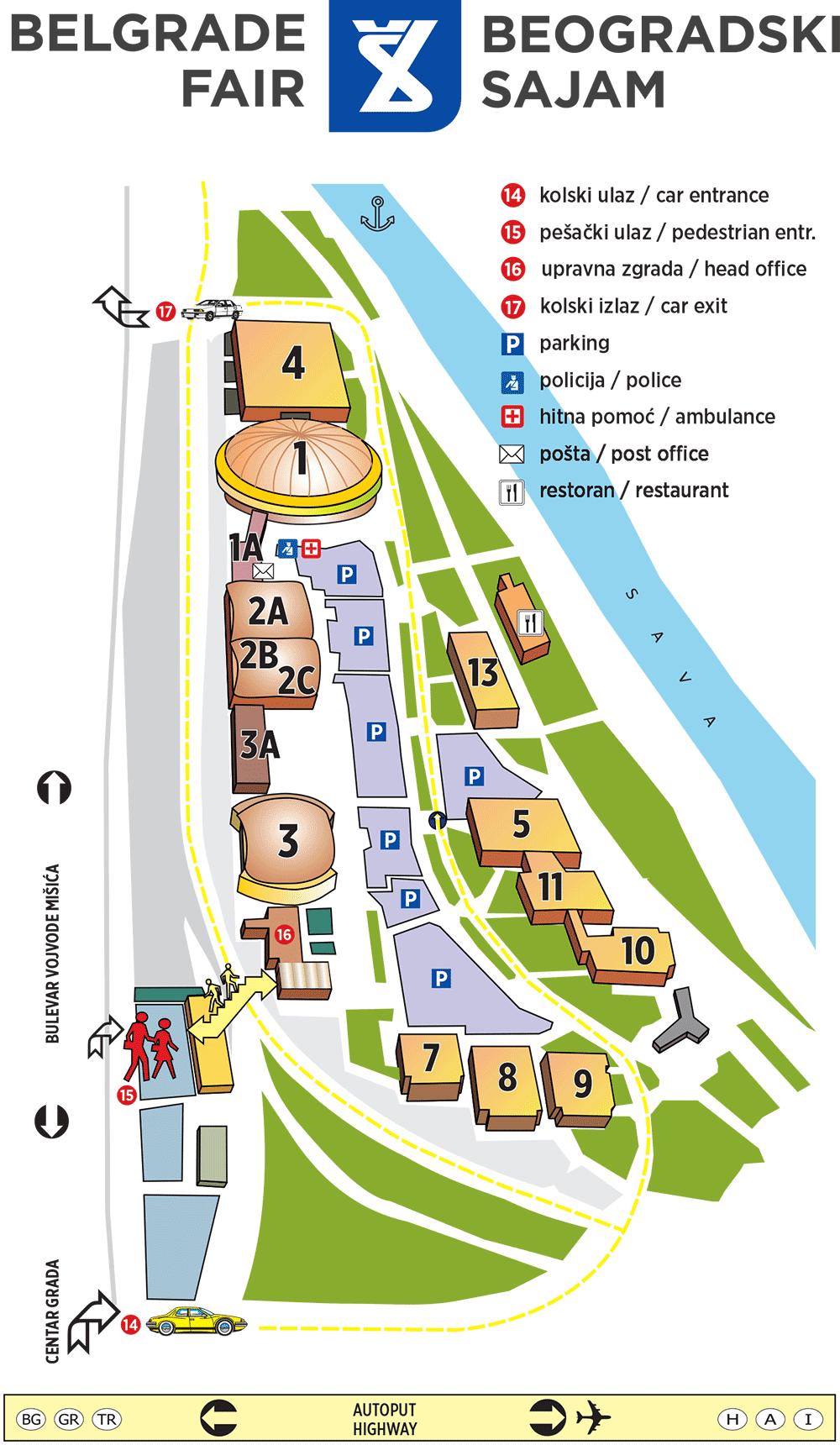 Mapa Sajma