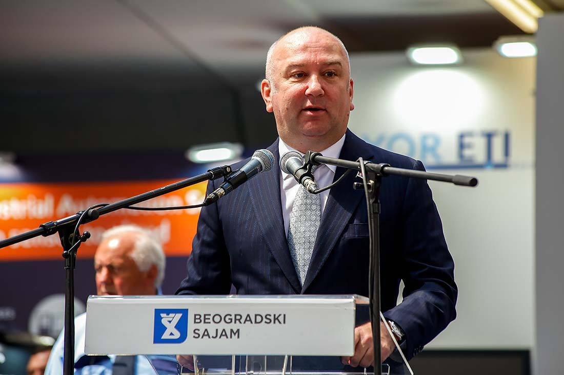Nenad Popović, ministar bez portfelja zadužen za inovacije i tehnološki razvoj, otvorio 62. Međunarodnog sajma tehnike i tehničkih dostignuća