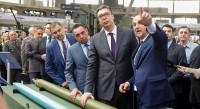 Serbian President Mr. Aleksandar Vucic visited the stands at the PARTNER 2019